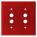 Red Pushbutton Light Switch Covers