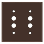 Brown Push Button Light Switch Plates