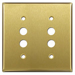 Satin Brass Push-Button Switch Plate Covers