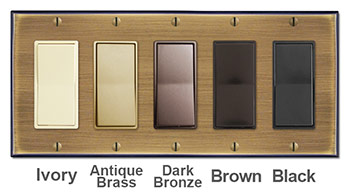 Antique Brass Wallplates