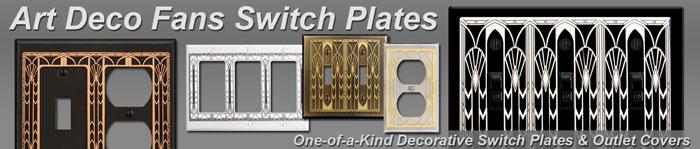Art Deco Fans Decorative Switchplates