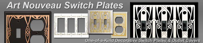 Decorative Art Nouveau Switch Plates