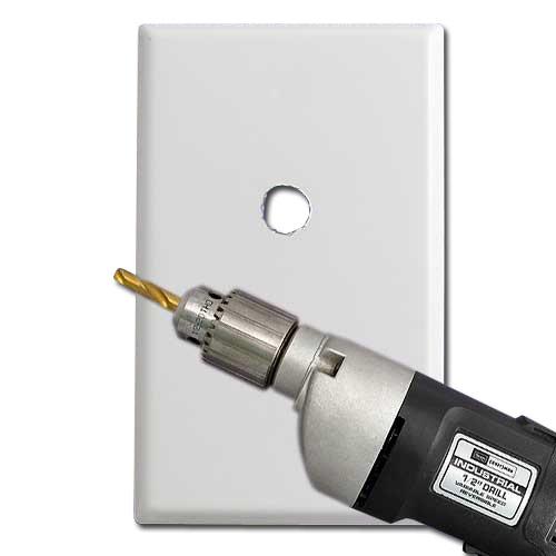 Custom Cut a Blank Switch Plate