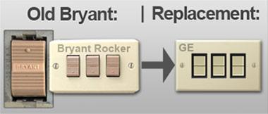 Bryant Low Voltage Lighting Mini Rocker Switches