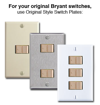 Original Low Voltage Bryant Light Switches