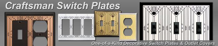 Decorative Craftsman Switch Plates