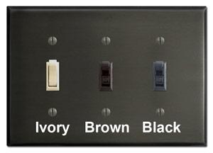 Dark Bronze Plates with Switches