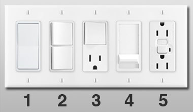 Decora Light Switch Plate With Device Examples