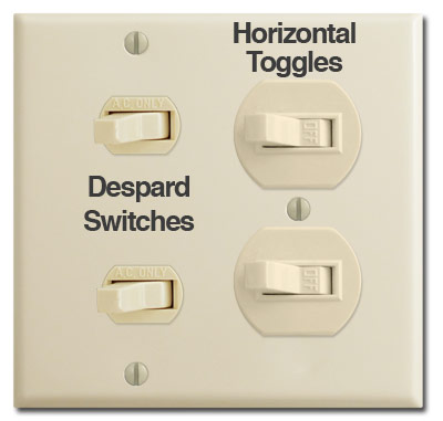 Despard & Horizontal Toggle Switches