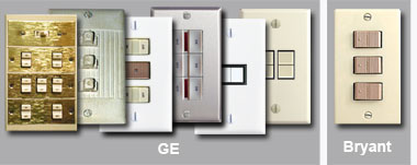Bryant and GE Low Voltage Light Switch Examples