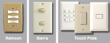 Remcon, Sierra, Touch-Plate Low Voltage Light Switch Examples