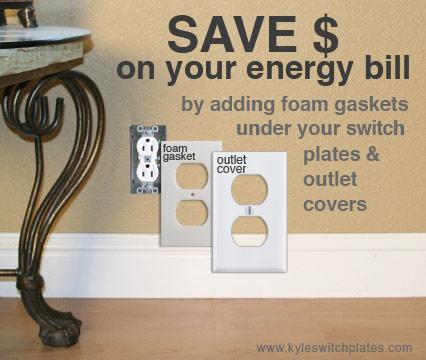 Foam Gaskets for Switch Plates Lower Energy Bill