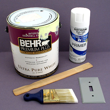 Instructions for Painting Wall Plates