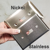 Compare Nickel Finish with Stainless Steel