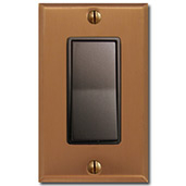 Copper Wall Plates with Bronze Switches