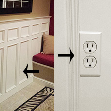 Cover Side Blocked Electrical Boxes with Narrow Wall Plates