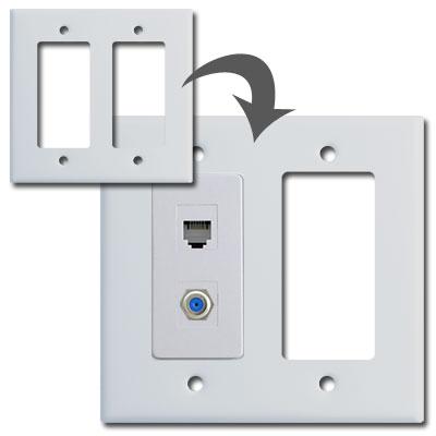 Create Custom Switch Plates with Modular Jacks