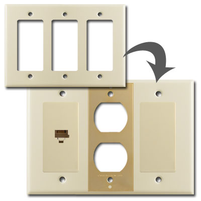 Create custom switch plates with inserts and overlays