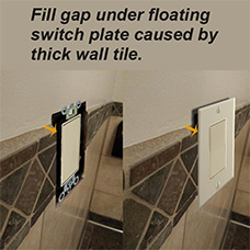 Fill Gap Under Floating Switch Plate