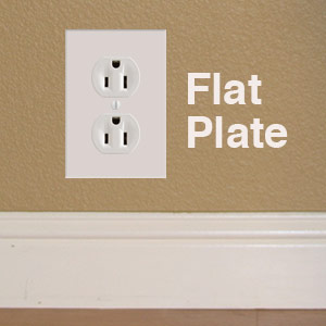 Flat Outlet Covers Sit Flush Behind Furniture