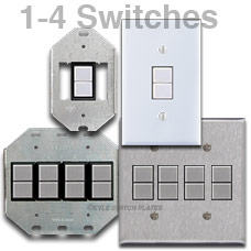 GE Switch Plates 1-4 Switches