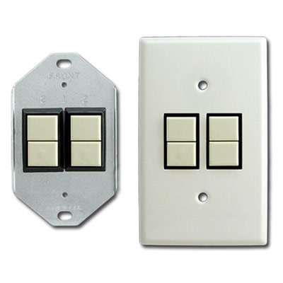 Bracket Mount GE Light Switches & Plates - Vertical Mounting