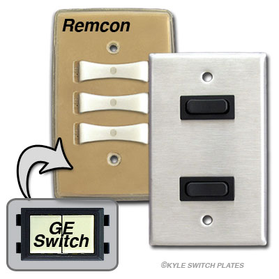 Vintage Low Voltage Remcon Light Switches