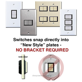 New GE Low Voltage Switches Require No Straps or Brackets