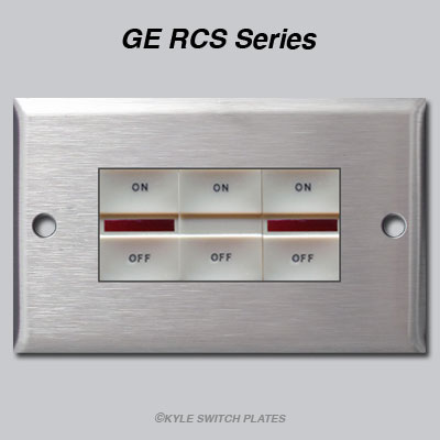 ge rcs low voltage switches and pilot lights in stainless steel switch ...