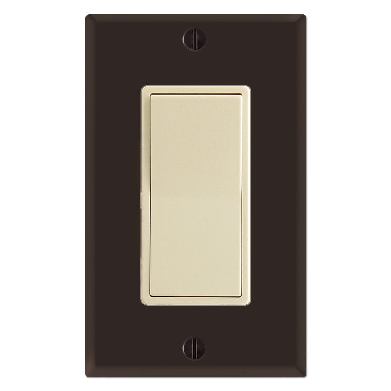 Brown Light Switches: Brown & Ivory,Lighting