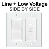 Line and Low Voltage Side by Side