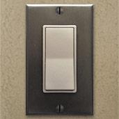 Metallic Silver Switches & Dark Bronze Plates