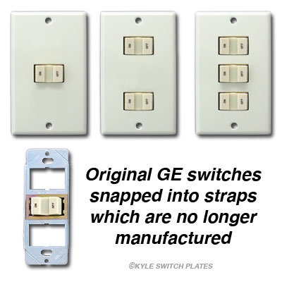 Original Style GE RFS Low Voltage Switch Wall Plate Covers