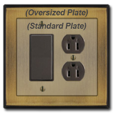 Oversized Switch Plate Hides Damage to Wall