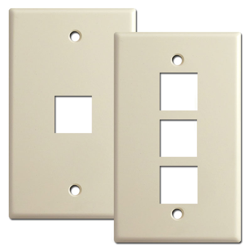 Phone jack switch plates for modular inserts