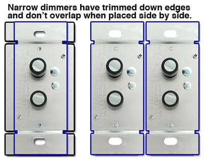 Trimmed Push Button Dimmers