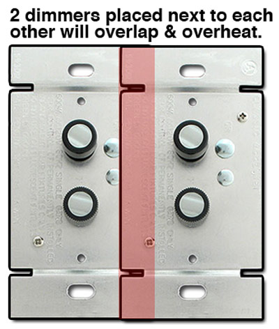 Side by Side Push Button Switches Overlap