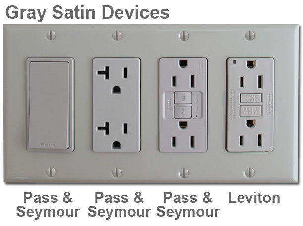 Satin Gray Electrical Outlets & Switches
