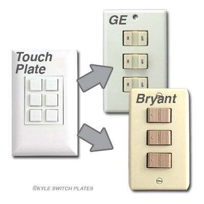 Touch Plate Switches Compatible with GE and Bryant LoVo Switches