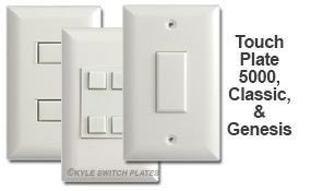 Touch Plate Comparison of White Finishes