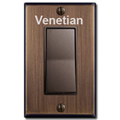Venetian Bronze Switches & Wall Plates