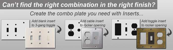 Combination Switch Plates - Easy Custom Size Creator