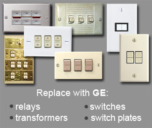 Main Low Voltage Banner Ge on Bryant Low Voltage Switch Plate