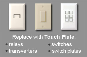 Old Low Voltage Lighting System Switches, Relays, Wall Switch Plates