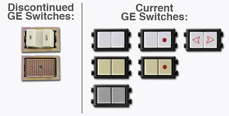 New Vs Old Ge Switches on Remcon Low Voltage Switches