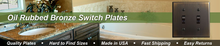 Oil Rubbed Bronze Brass Switch Plates - Oiled Bronze Light Switch Covers in 70 Sizes