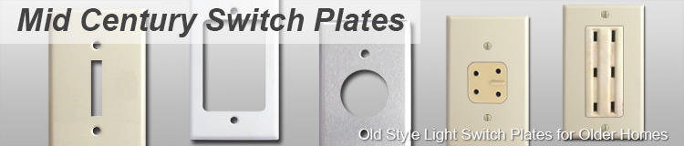 Old Mid Century Switch Plates