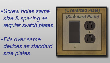 Oversized Switch Plate Covers Awesome What Are The Dimensions Of Oversized Switch Plates Design Inspiration