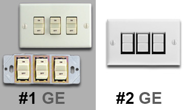 Photo Examples Row Left Split on Remcon Low Voltage Switches