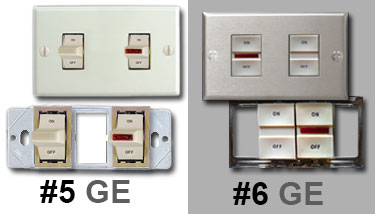 Old GE Pilot Light Switch Examples